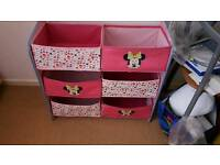 Minnie Mouse Storage Drawers