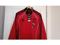 New mens LFC Pres track suit, red jacket L black pants 38 labels attached .