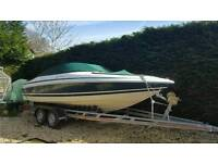 20ft Chris Craft Motor boat & trailer, water skis, ringo, bimini etc included