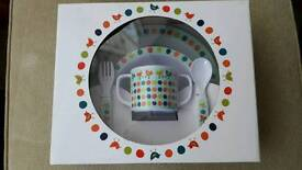 Child's cup and plate set
