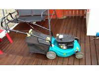 Petrol lawn mower self prolelled 95cc 2yo
