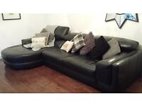 Italian leather 5 seater corner sofa