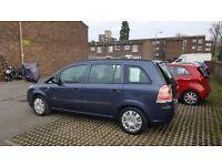 Blue Vauxhall Zafira .
