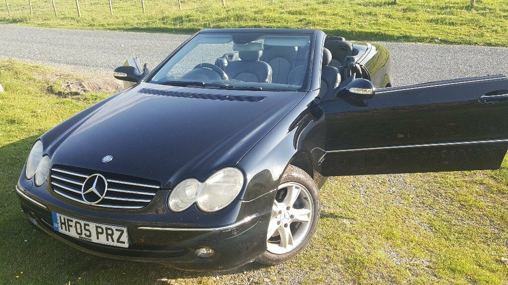 2005 mercedes clk 200 kompressor convertible black 1 8 auto in heckmondwike west yorkshire. Black Bedroom Furniture Sets. Home Design Ideas