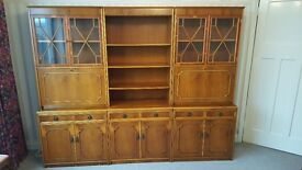 Yew Wood Display Cabinets