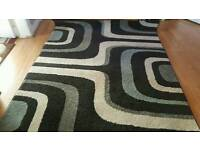 Brand new never been used black and grey thick pile rug in 120/170cm