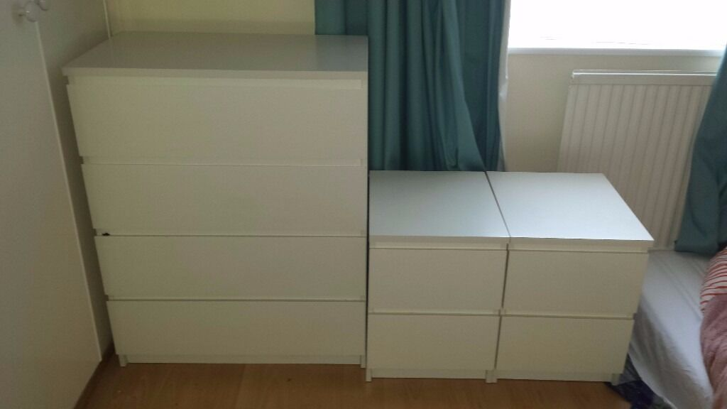 Moving Must Sell Ikea Malm White 4 Drawer Chest Of