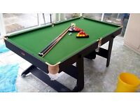 6ft x 3ft Pool and Snooker Table