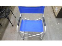 fold flat aluminium rust proof chair in excellent condition. ideal fishing / camping/ garden