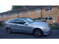 Mercedes C class coupe 02 plate