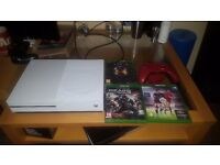 Xbox One Slim 1Tb with 3 games , red controller, warranty