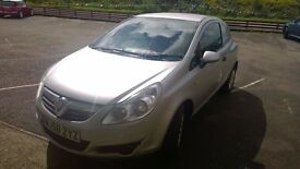 vauxhall corsa van cdti 2008 registration, 1.3 turbo diesel , only 70,000 miles, new mot,