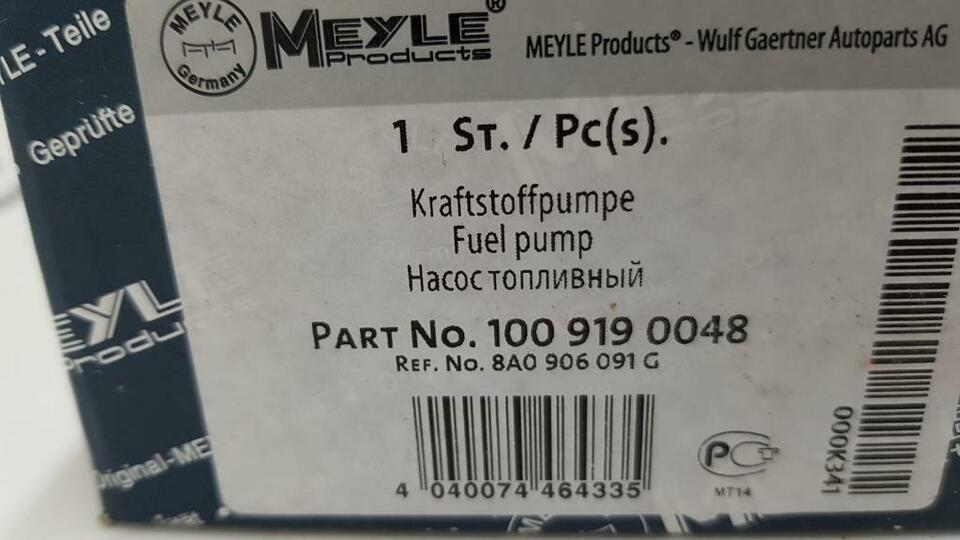 KRAFTSTOFFPUMPE BENZINPUMPE AUDI 80 100 200 B3 B4 T44 C3 C4 89590 in Bredstedt