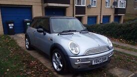 Mini Cooper, silver 2001,