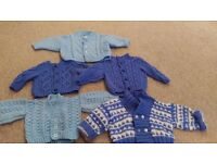baby boys hand knitted cardigans