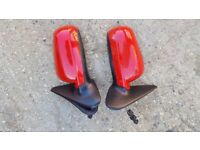 Seat Leon 2002 Red pair of door mirrors