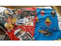 2 sets single duvet covers lego