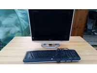 LG Monitor & HP Keyboard