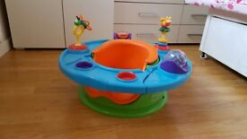 Baby's sit in play toy can be used for feeding
