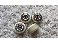 Picture wheel company skateboard wheels 53mm with fracture abec 5 bearings