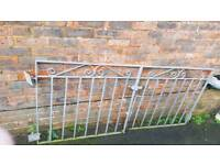 Galvanised metal gates