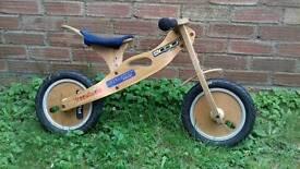 Child's wooden balance bike fantastic 1st bike