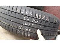 Car Tyre - 205 60 16 Michelin primacy HP 6.5mm 7.0mm-no repaired