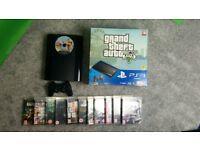 PS3 super slim, 500GB, GTA 5 bundle £95
