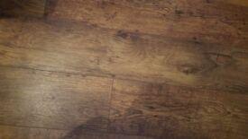 Rusty oak laminate 12mm +underlay Made in UK