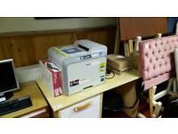 Printer SamsungCLP-500 laser colour with cartridges