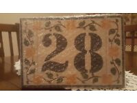 Ceramic House Number Plaque