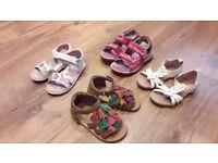 Girls summer sandals size 7