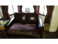 2 x 2 seater sofas used brown