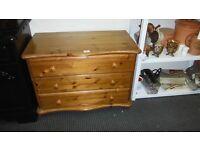 3 Drawer pine chest