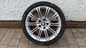 "18"" BMW M Sport alloy tyre and wheel 245/40/18 (used)"