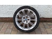 """18"""" BMW M Sport alloy tyre and wheel 245/40/18 (used)"""