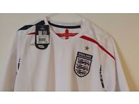 Retro England Football shirt by Umbro Small Size unworn with tags