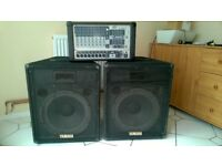 pa system peavey PVi8B Plus amp & Yamaha SV15 speakers