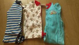Sleep suits. 12-18 months