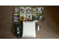 Xbox 360 (Spares or Repairs) with 10 games