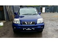 breaking blue nissan xtrail SVE 2.2 turbo diesel manual 4x4 parts spares BW6
