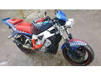 R6 stunt bike streetfighter R1
