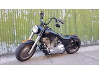 1993 Harley Davidson FLHS Electraglide Sport 1340 Evo / Big Twin - Custom Bobber - Black Orange