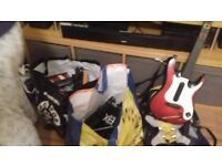 free train set,ruck sack,guitar hero for play station