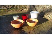 Garden pots - terracotta, ceramic and plastic