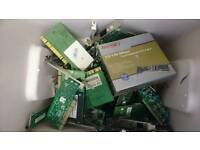 Job lot of 35 network cards