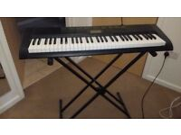 CASIO CTK-1100 keyboard, excellent condition, stand and charger