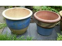 Job lot terracotta garden plant pots