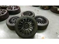 """TSW 15"""" 4x108 alloys + tyres ford citreon peugeot"""