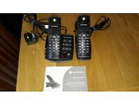 Motorola twin digital cordless telephones with answering machine.